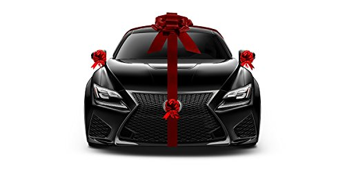 Nicky Bigs Novelties Giant Metallic Red Car Bow New Car Gift Wrap Kit Lot Decoration Deluxe Set