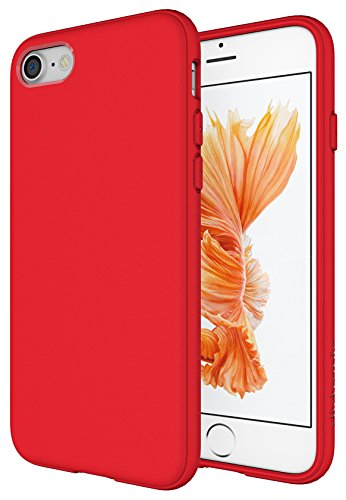 Diztronic Matte Red iPhone 7 Case / iPhone 8 Case, Full Matte Slim-Fit Flexible TPU Case for Apple iPhone 7 & 8 (Matte - Red Matte