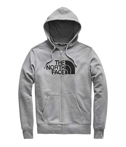 - The North Face Half Dome Full-Zip Hoodie - Men's TNF Medium Grey Heather/TNF Black 2X-Large