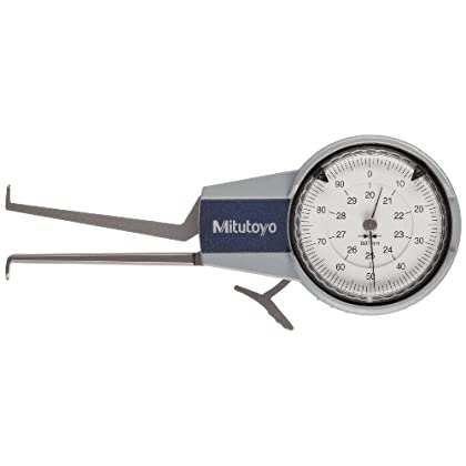 Image of Mitutoyo 209-304 Caliper Gauge, Pointed Jaw, White Face, 30-50mm Range, +/-0.03mm Accuracy, 0.01mm Resolution, Meets IP65 Specifications Home Improvements