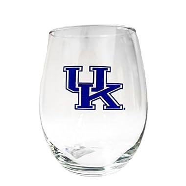 NCAA Kentucky Wildcats 15oz Stemless Wine Glass