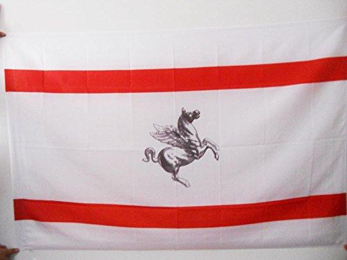 Italy Tuscany Toscano Italian - AZ FLAG Tuscany Flag 3' x 5' for a Pole - Italy - Italian Region of Toscana Flags 90 x 150 cm - Banner 3x5 ft with Hole