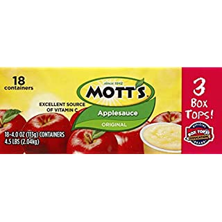 Mott's Applesauce Cups (18 Count of 4 Ounce Cups), 72 Oz