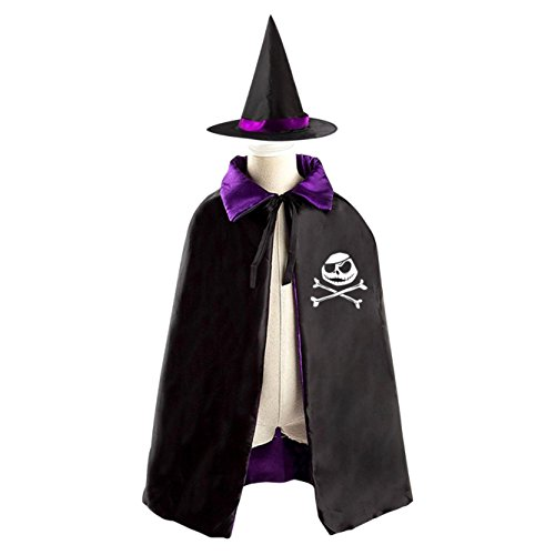 Jolly Halloween Costume Wizard Witch Reversible Cloak Robe and Hat (Roger The Alien Halloween Costume)