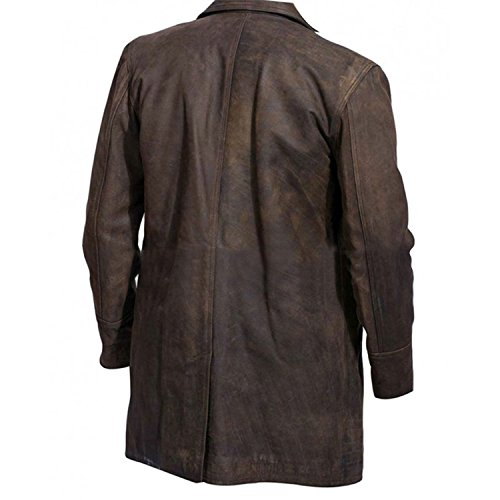 Coat War Genius Jacket Brown Distressed Doctor Costume Pea Leather e Who zRHxxw