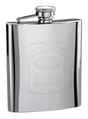 Jack Daniels Licensed Barware 5588 Label Flask, 7 oz, Silver ()