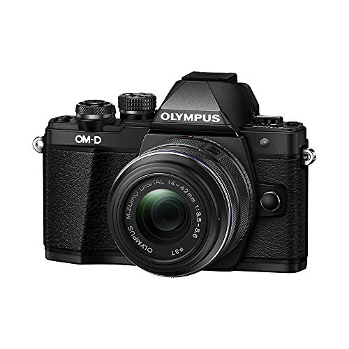 Olympus OM-D E-M10 Mark II Mirrorless Camera with 14-42mm II R Lens (Black) (Mirrorless Camera With Viewfinder And Built In Flash)