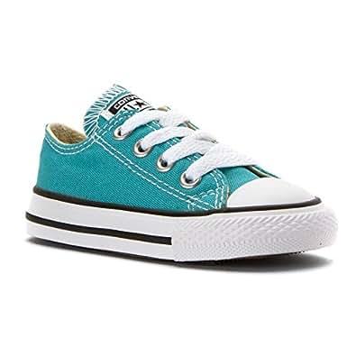 Converse Chuck Taylor All Star Seasonal Ox Fashion Sneaker Shoe - Aegean Aqua - Boys -10