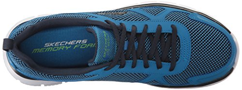 Skechers Sport Mens Track Bucolo Blue/Lime s9BXENb
