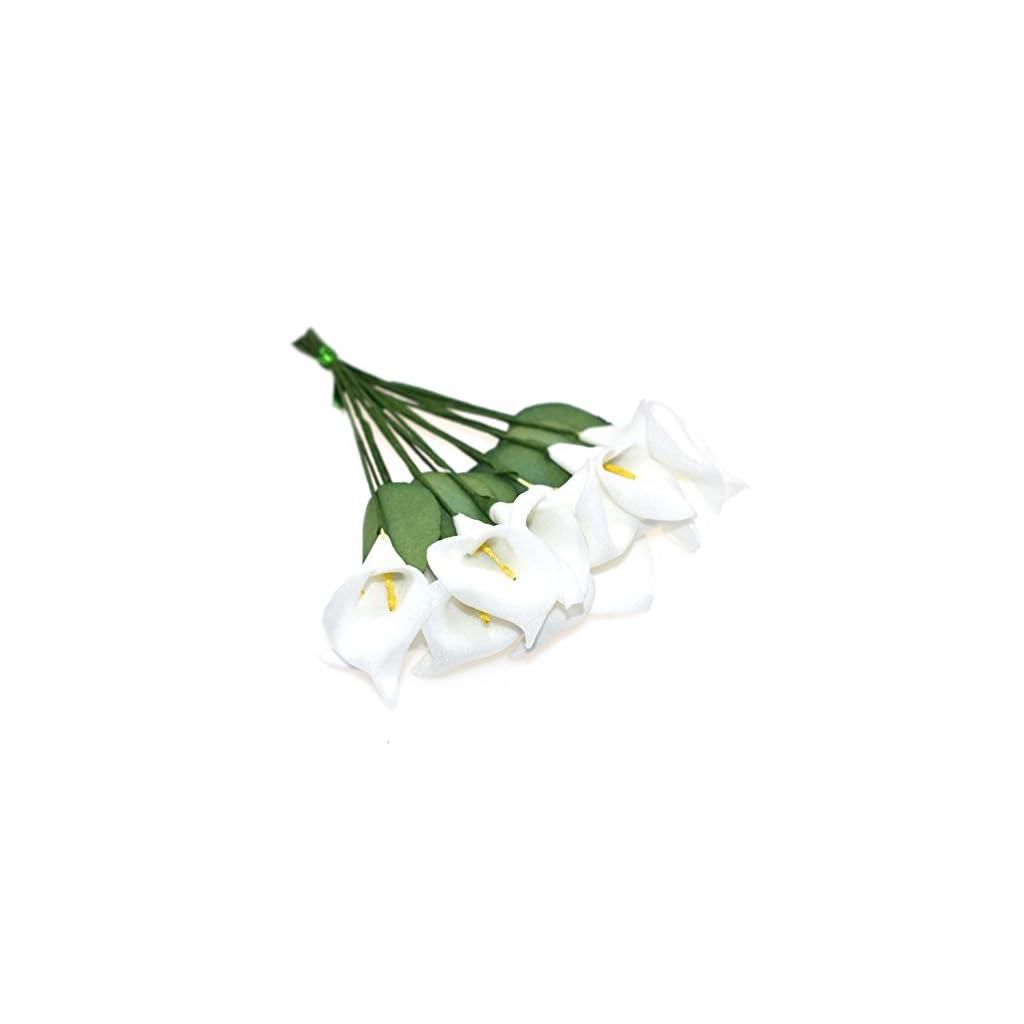 HZOnline-Artificial-Mini-Calla-Lily-Flower-Heads-Fake-Floral-Bouquet-Head-for-Crafts-Scrapbooking-Garden-Wedding-DIY-Making-Bridal-Garland-Hair-Clips-Headbands-Decoration-144pcs-White