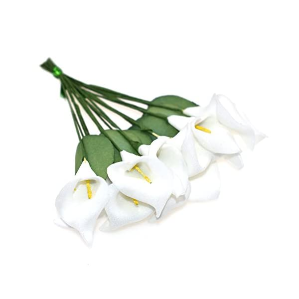 HZOnline-Artificial-Mini-Calla-Lily-Flower-Heads-Fake-Floral-Bouquet-Head-for-Crafts-Scrapbooking-Garden-Wedding-DIY-Making-Bridal-Garland-Hair-Clips-Headbands-Decoration-144pcs-White