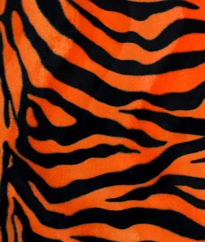 - Orange Zebra Velboa Faux Fur Fabric - by the Yard