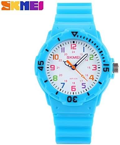 Children Waterproof Jelly Sports Quartz Watch Light blue