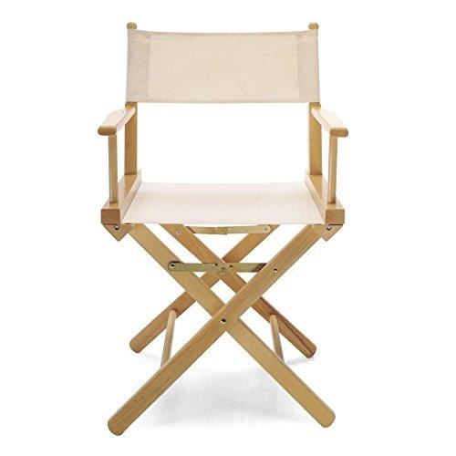 ArredaSi Regista P Chaise de metteur en scène en bois naturel et tissu écru
