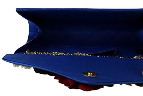 Girly Girly Clutch Royal Bag HandBags HandBags Flowers Clutch Bag Blue Flowers I4rpH4