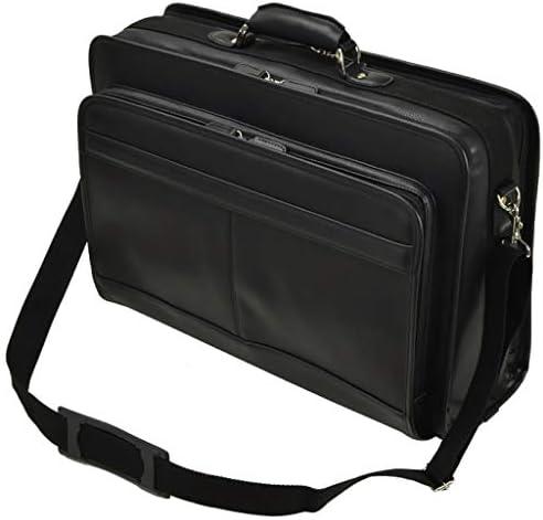 ビジネスバッグ アタッシュケース ソフトアタッシュケース A3 メンズ 大容量 自立 キャリーオン ショルダーベルト 通勤 仕事 出張 黒 2室