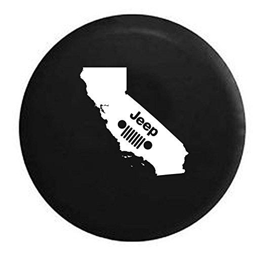 Jeep Grill California Coastal Spare Tire Cover Vinyl Black 33 in -