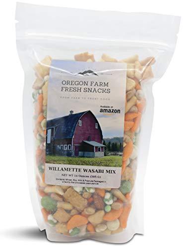 Oregon Farm Fresh Snacks - Willamette Wasabi Mix - Gourmet Snack Mix with a Kick (14 oz)