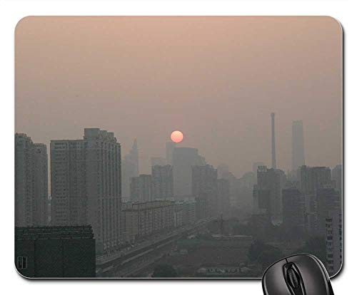 Mouse Pad - Beijing China City Cityscape Sunset ()