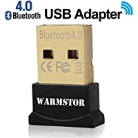 Warmstor Bluetooth Adapter, CSR 4.0 USB Dongle Bluetooth Receiver / Transfer Gold Plated for Laptop PC Computer Support Windows 10 8 7 Vista XP 32/64 Bit