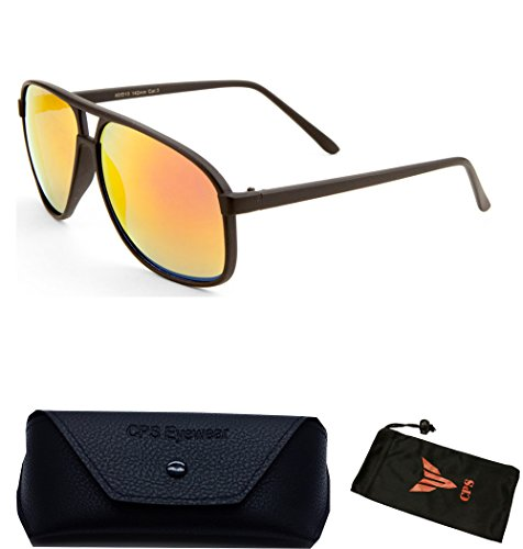 Polarized Turbo Style Matte Flat Black Men Women Unisex Vintage Aviator - Sunglasses Men For Coolest