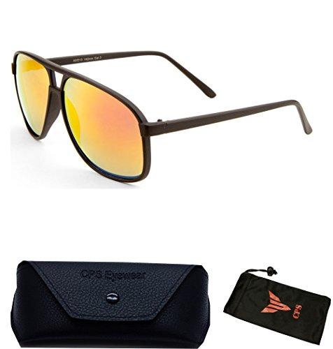 Polarized Turbo Style Matte Flat Black Men Women Unisex Vintage Aviator - Mens Sunglasses Coolest