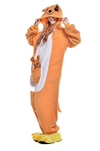 Women's Cozy Lion Costumes (Christmas Costumes Kangaroo Onesie Pajamas Sleeping Wear Cosplay Costumes (XL, kangaroo))