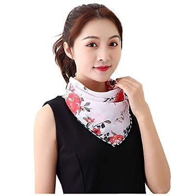 Sun UV Protection Face Mask Neck Gaiter Windproof Scarf ,Sun Protection Face Mask Single Layer Neck Gaiter Lightweight Summer Protection Scarf Bandana (White): Beauty