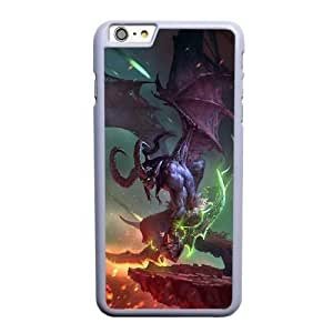 Custom made Case,World of WarCraft-Demon Hunter Illidan Stormrage Cell Phone Case for iPhone 6 6S plus 5.5 inch, White Case With Screen Protector (Tempered Glass) Free S-7308740