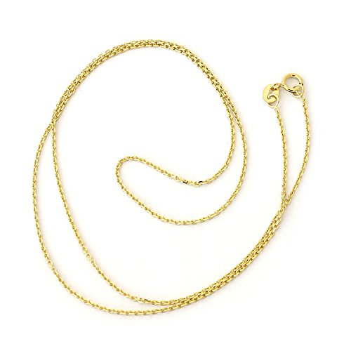 llow Gold 1.1mm Cable Link Chain Necklace, 18