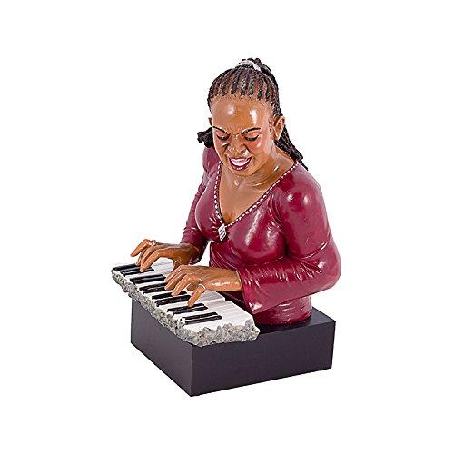 Estatua Mulher Pianista Oldway - 48x31 cm