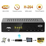 Leelbox Digital Converter Box for Analog TV 1080P ATSC Converters with Recording, Pause Live TV, Multimedia Playback HDTV Set Top Box
