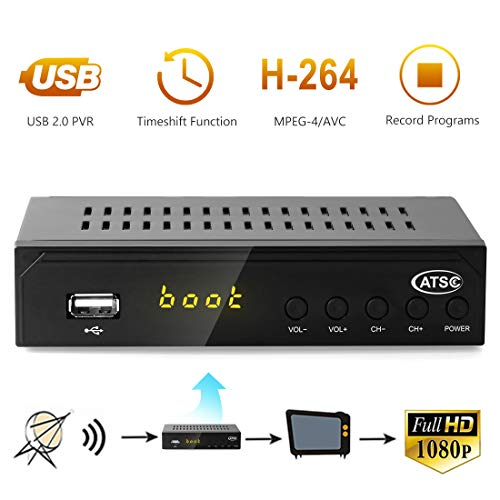 - Leelbox Digital Converter Box for Analog TV 1080P ATSC Converters with Recording, Pause Live TV, Multimedia Playback HDTV Set Top Box