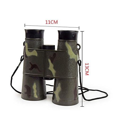 ENFANTS jumelle, Zepst 6x 35mm Camouflage pliable compact Mini jumelles Télescope jouet pour enfants garçon Cadeau de portable pour voyage, escalade de l\'extérieur,