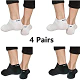 Ankle Socks No Show Low Cut Funny Sports Athletic Socks for Men Women Pack Black