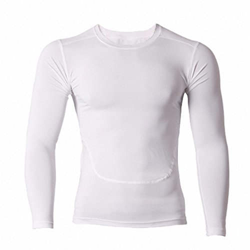 Compression Mens Tights Shirt Long Sleeve Top Baselayer For Running, Training & Athletics