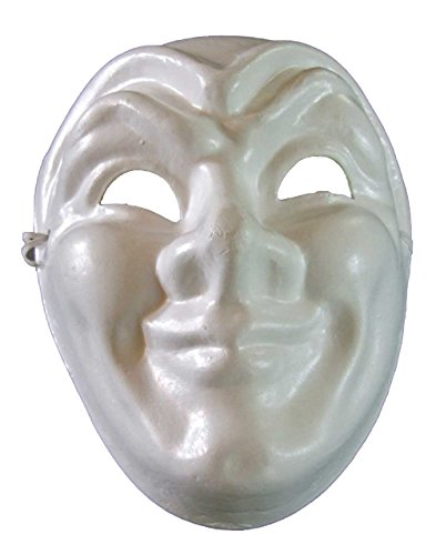[Blank Unpainted Joker Jester Venetian Mask Masquerade Halloween Costume Drama Project] (The Joker Masquerade Costume)