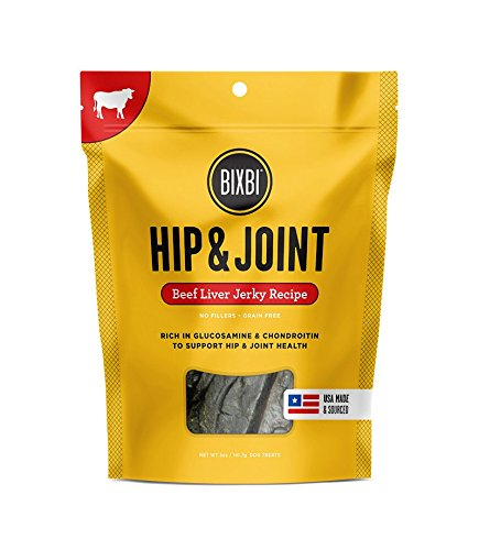 BIXBI Hip & Joint Dog Jerky Treats, Beef Liver, 5 Ounce