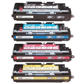 LD Remanufactured Replacement Laser Toner Cartridges for HP Color LaserJet 3800: 1 Black Q7580A, 1 Cyan Q7581A, 1 Magenta Q7583A and 1 Yellow Q7582A - Hp Q7583a Magenta Toner