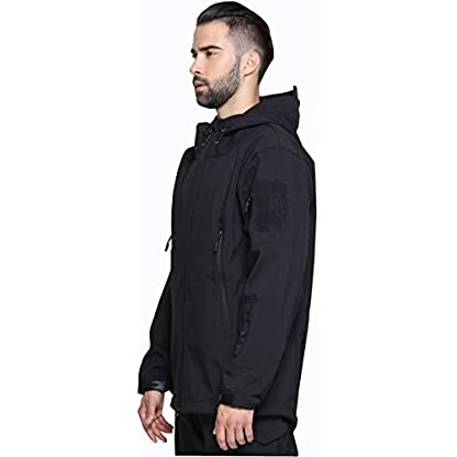 TACVASEN Military Waterproof Men's Softshell Jacket Fleece Lining Camouflage Outdoor Coat 3