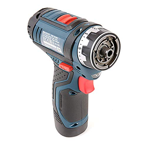Bosch Professional GSR 12V-15 FC Cordless Drill Driver Set with Two 12 V 2.0 Ah Lithium-Ion Batteries L-Boxx