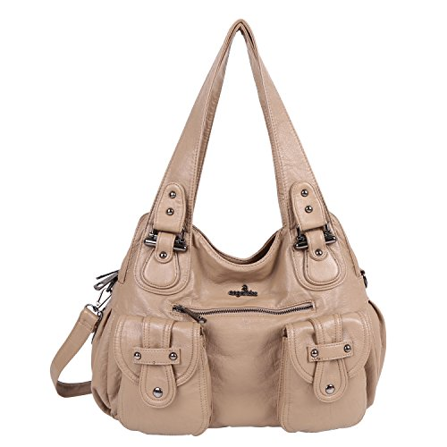 Apricot Angelkiss and Lether Pu Women On Purses �� Bags Handbags Large Sale Shoulder Washed rrO4x