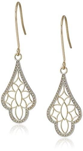 14K Yellow Gold Teardrop Dangle Earrings
