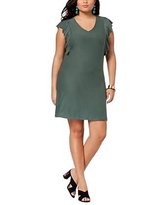 Planet Gold Trendy Plus Size Flutter-Sleeve Mini Dress ...