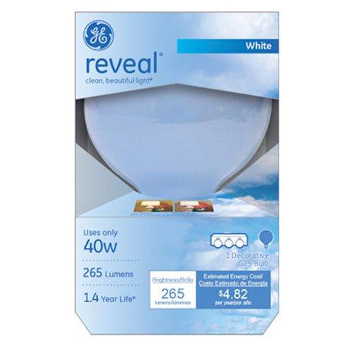 GE Lighting 48695 Reveal Bulb, Decorative Globe, 40 Watts (Reveal Globe)