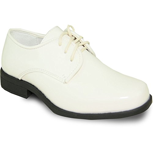 VANGELO Boy Tuxedo Shoe TUX-1K Square Toe for Wedding and Formal Event Wrinkle Free by VANGELO