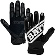 Battle Sports Science Ultra-Stick Receivers Gloves, Black/Black, Small