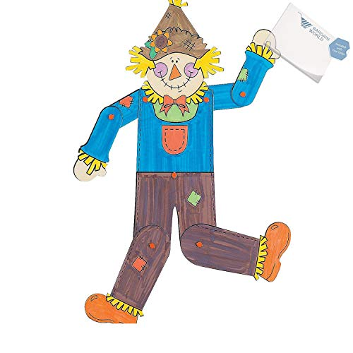 - Bargain World Color Your Own! Jointed Scarecrows (With Sticky Notes)