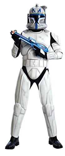Deluxe Clonetrooper Costumes (Rubies Mens Star Wars Movie Characters Clonetrooper Rex Deluxe Costume, Standard (up to 44))