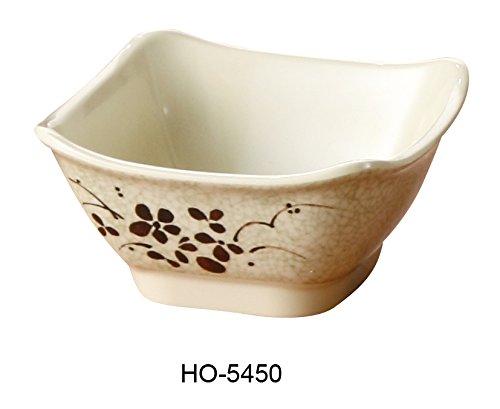 Yanco Honda Collection Japanese Style Melamine Square Bowl (4 3/4'')10 Oz Box of 48 by Yanco
